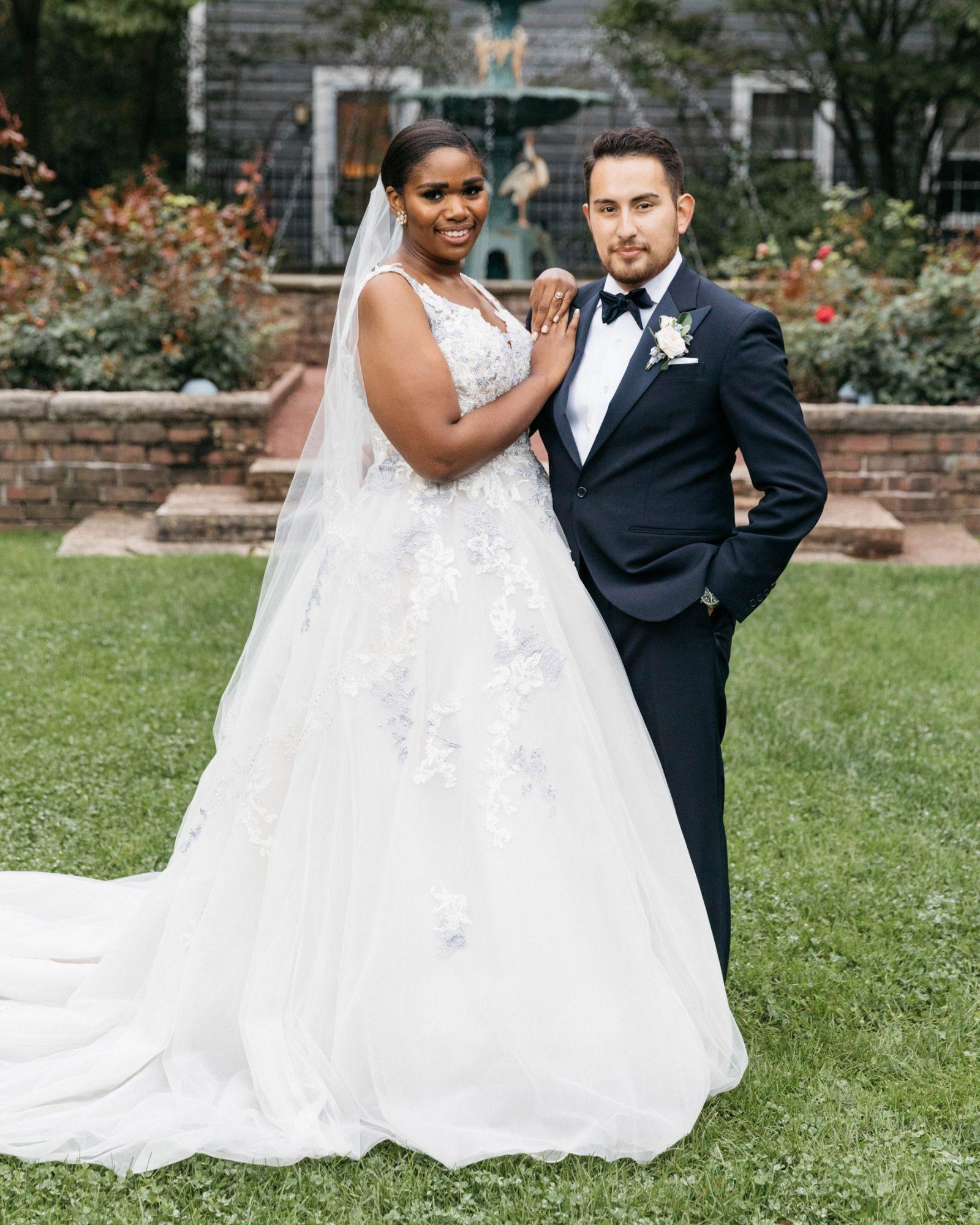 outdoor portrait bride and groom