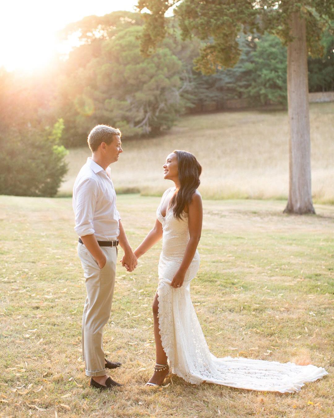 jen tim wedding couple portraits at golden hour