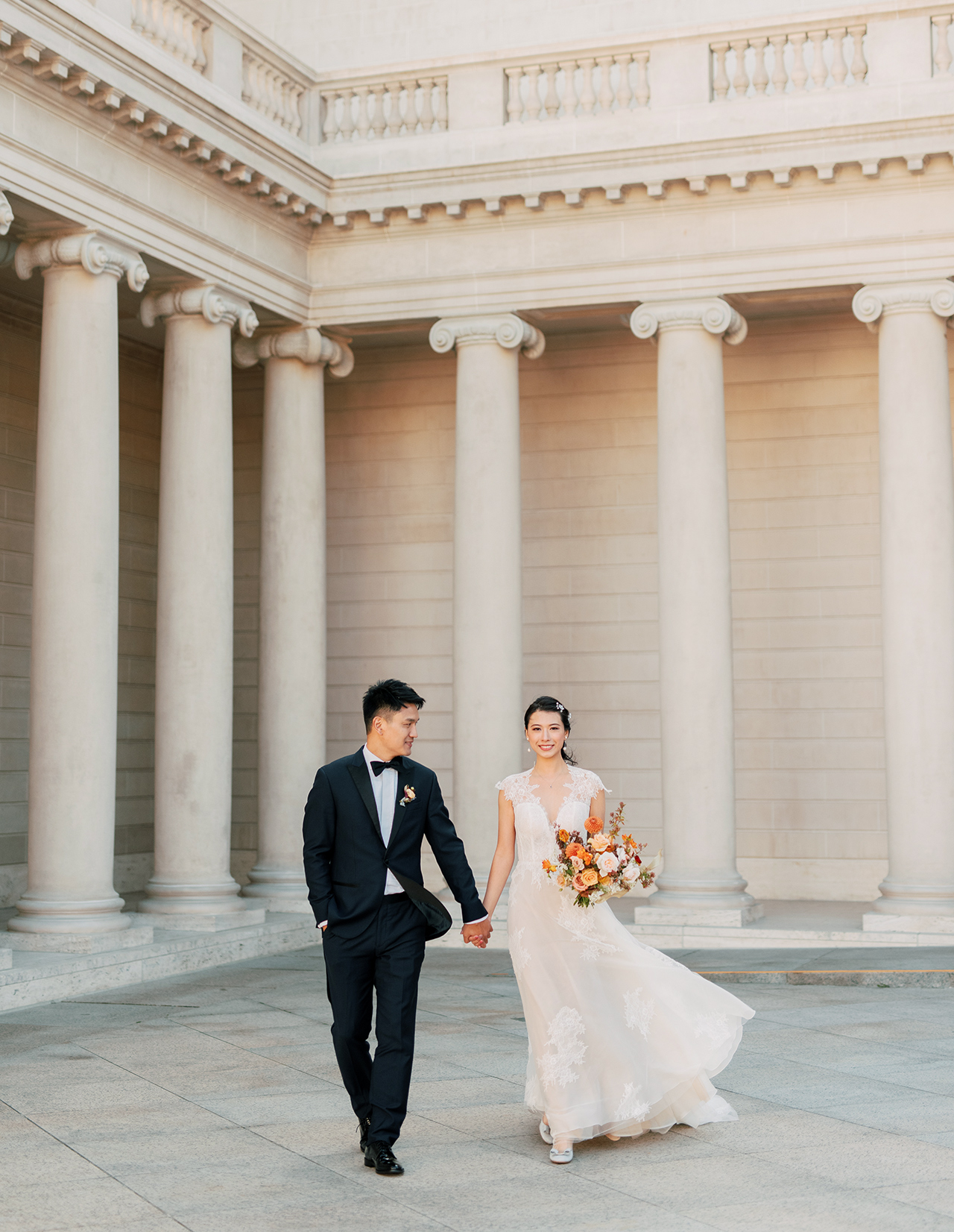 This Couple Celebrated Their California Wedding Surrounded by Some of the World's Most Famous Sculptures