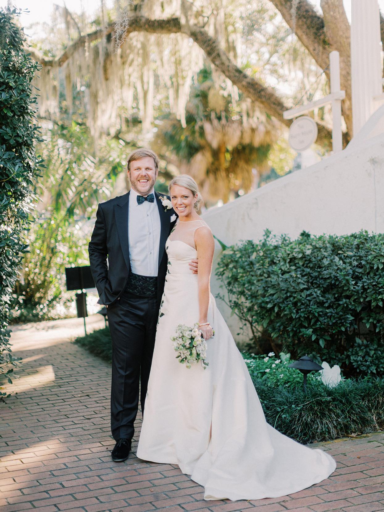 A Black Tie Garden Wedding With Menswear Inspired Details In