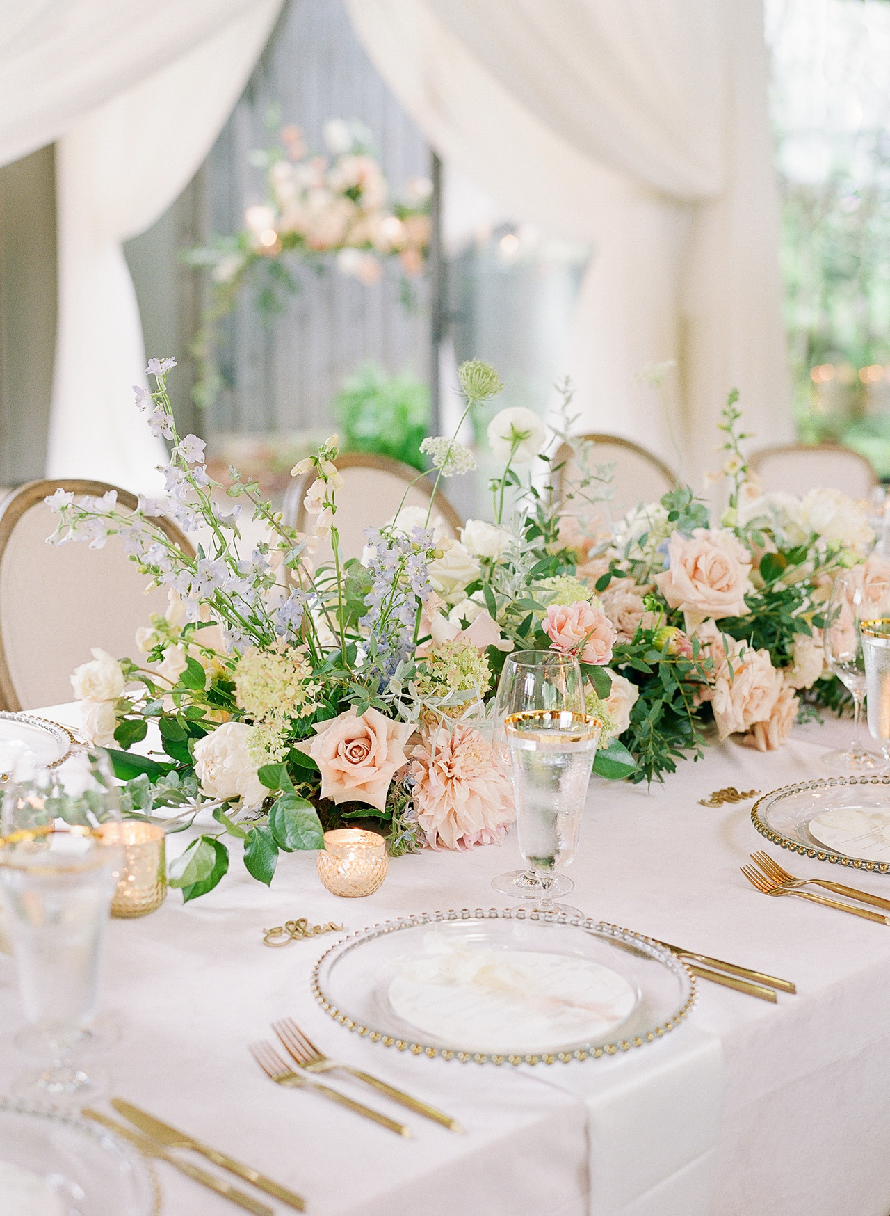 adrienne will wedding tables centerpieces
