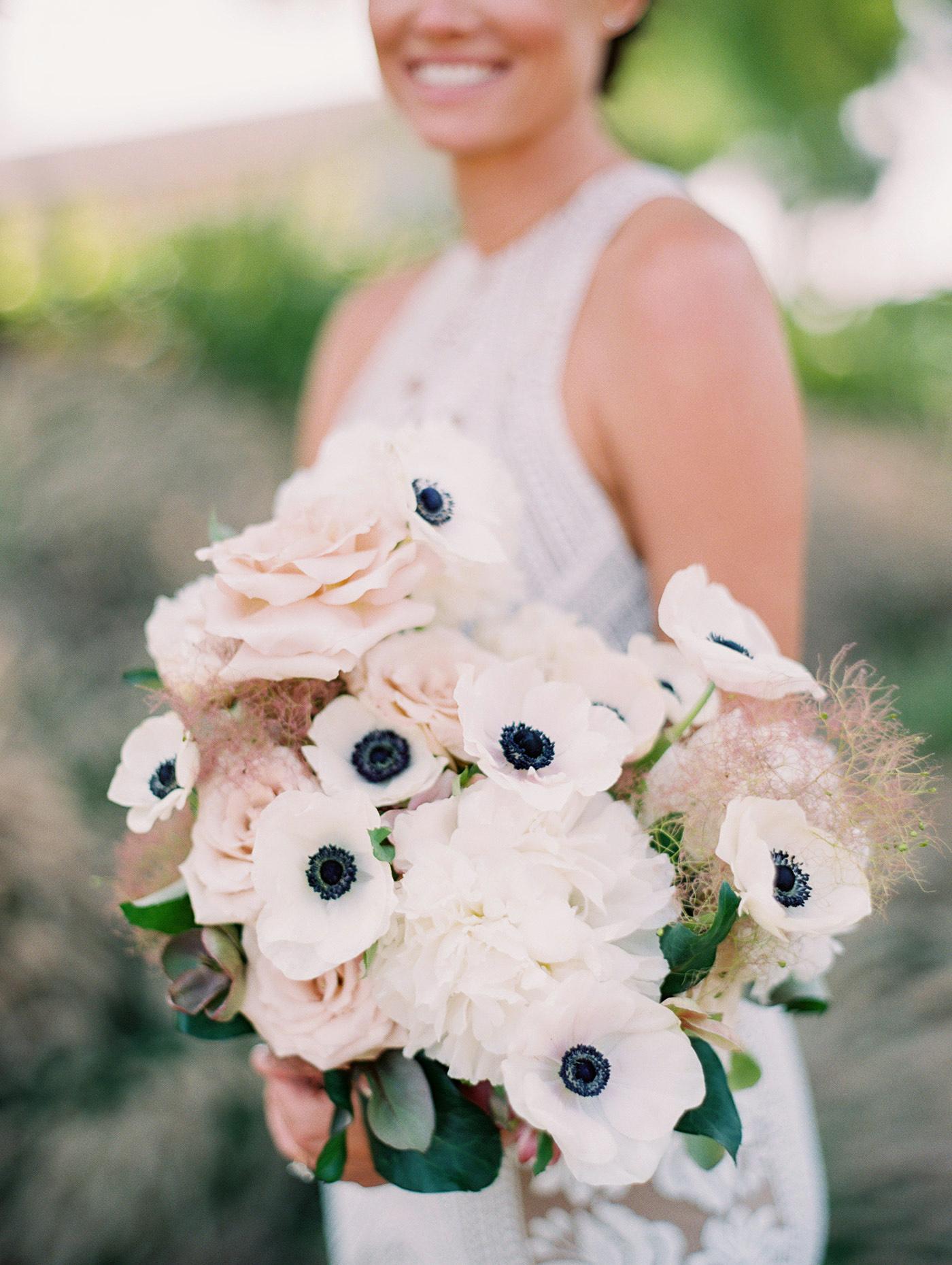 Caitlin and Fletcher wedding bouquet bride