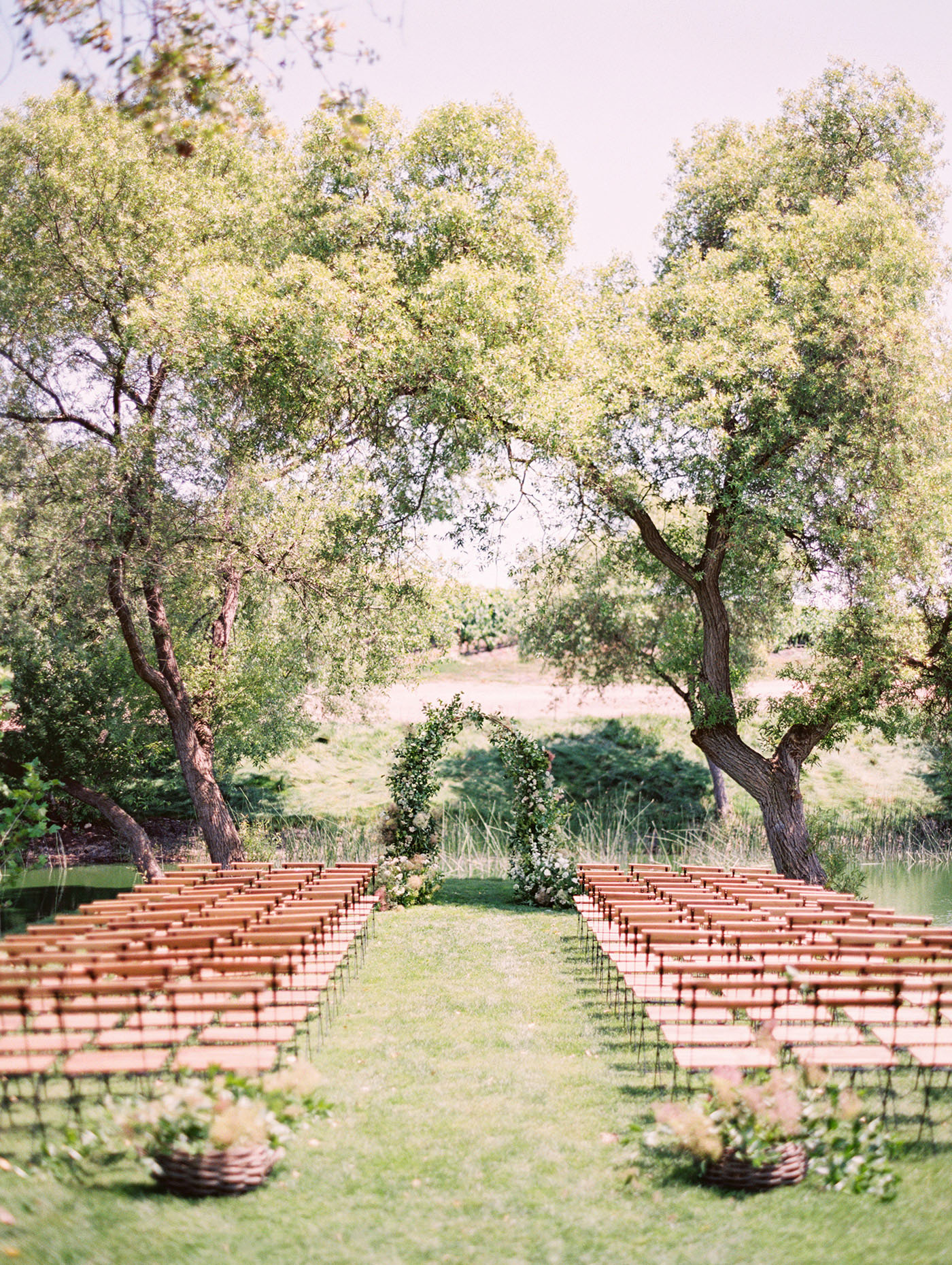 Caitlin and Fletcher wedding ceremony space