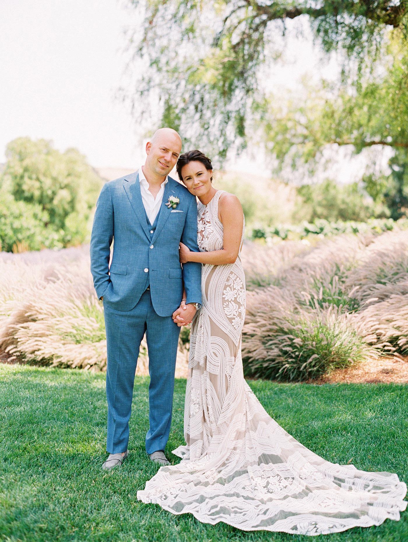Caitlin and Fletcher wedding couple posing