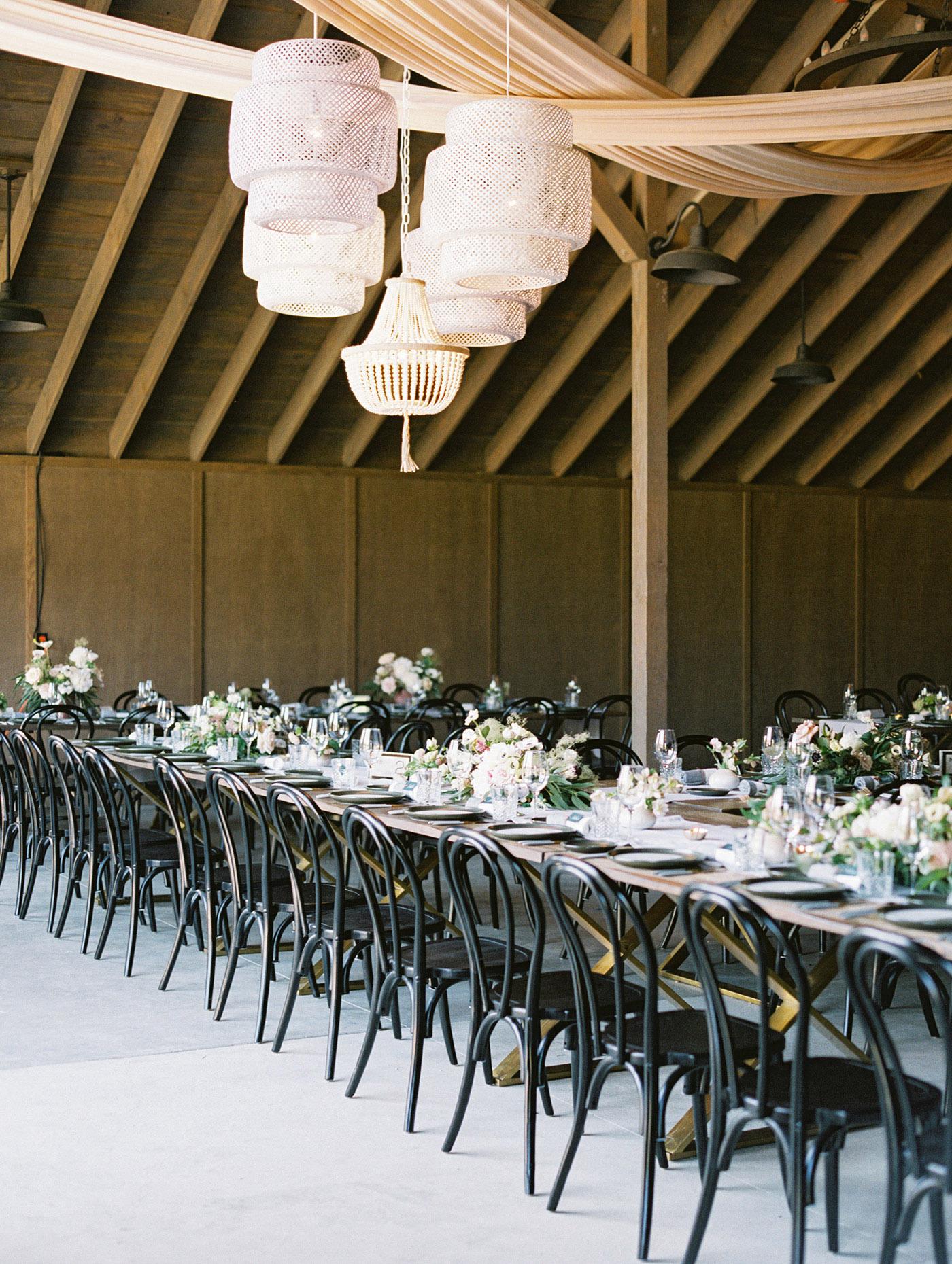 Caitlin and Fletcher wedding reception tables
