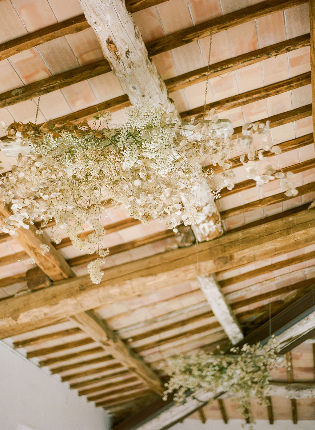 babys breath hanging from ceiling