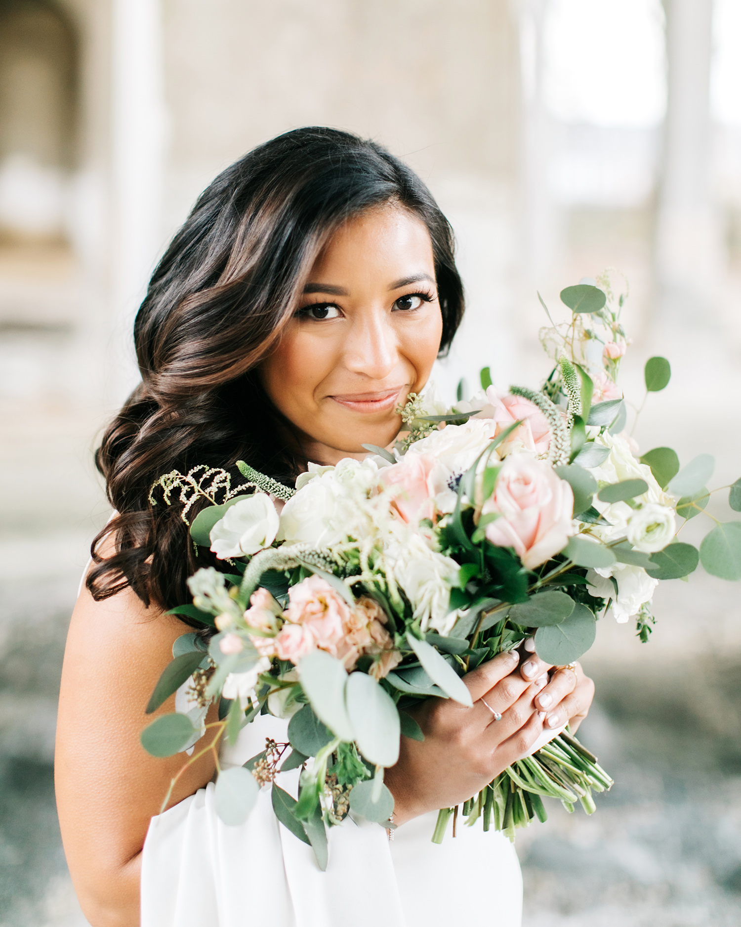 jessica ali wedding floral bouquet bride