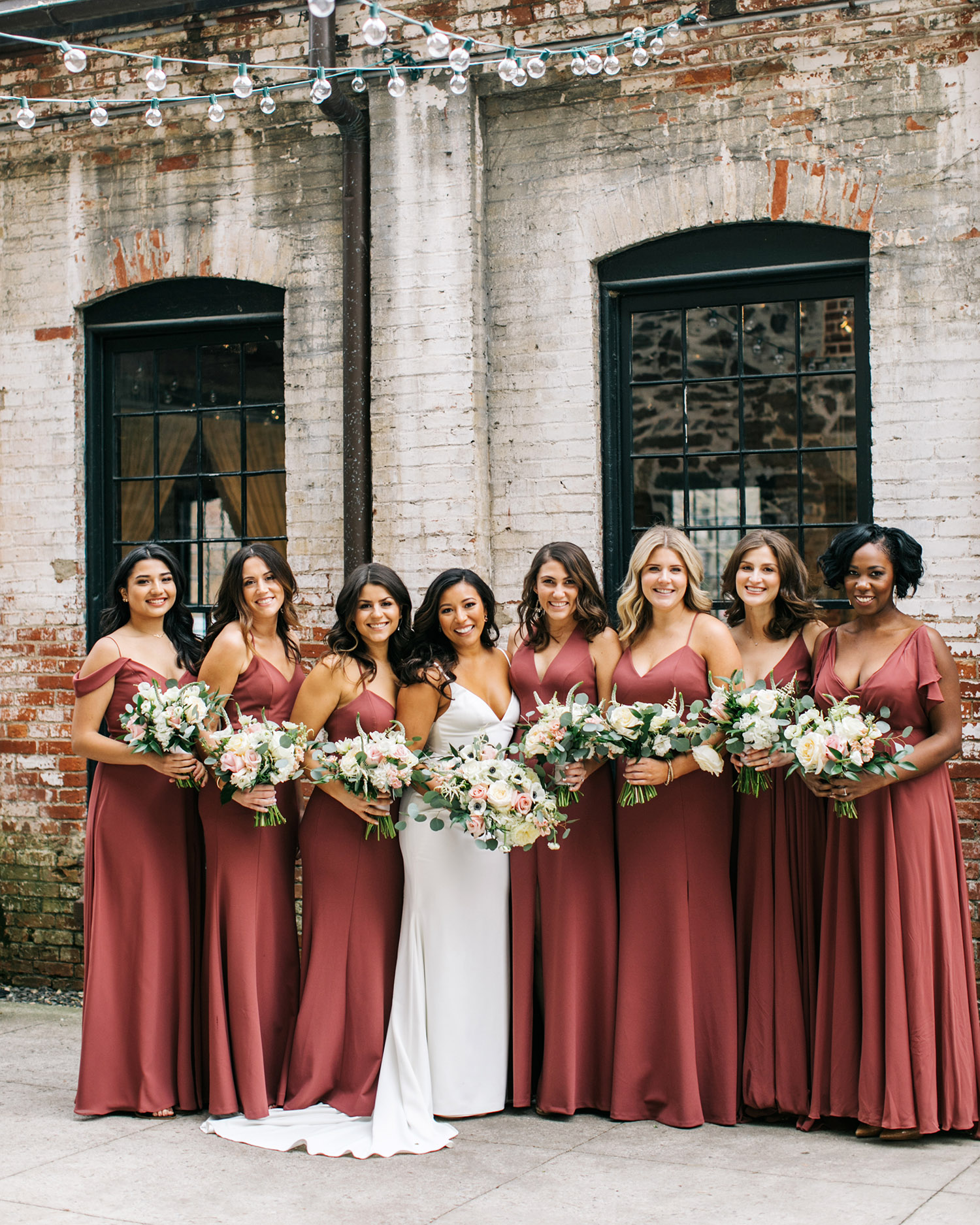 jessica ali wedding bride and bridesmaids