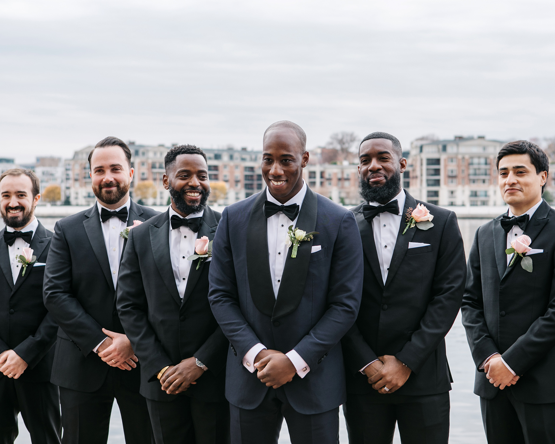 jessica ali wedding groom and groomsmen