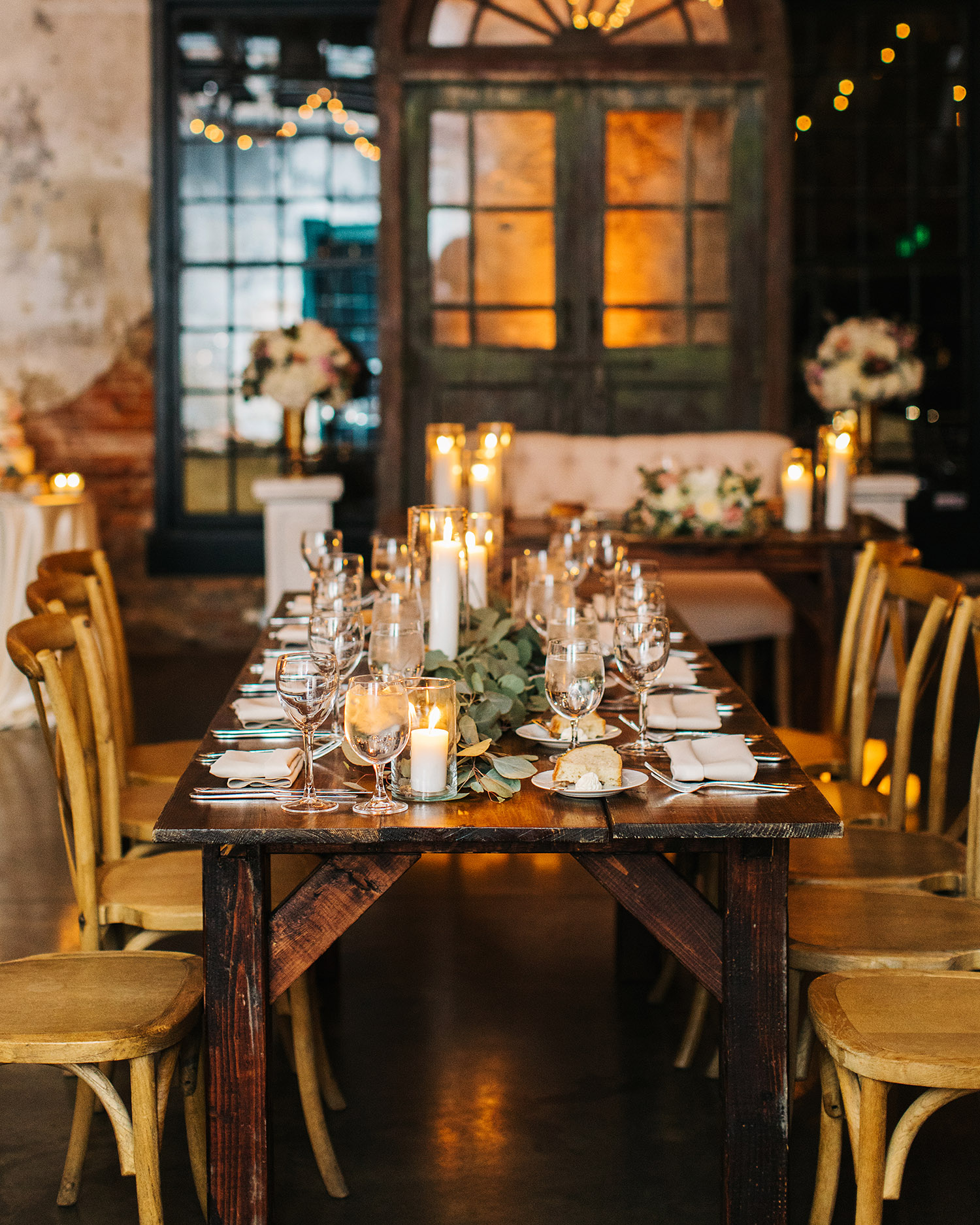 jessica ali wedding reception table