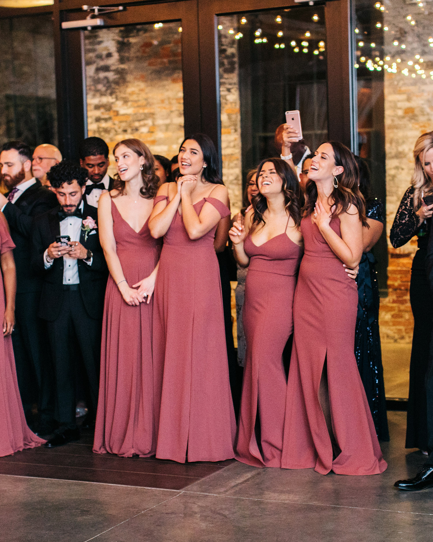 jessica ali wedding bridesmaids at reception