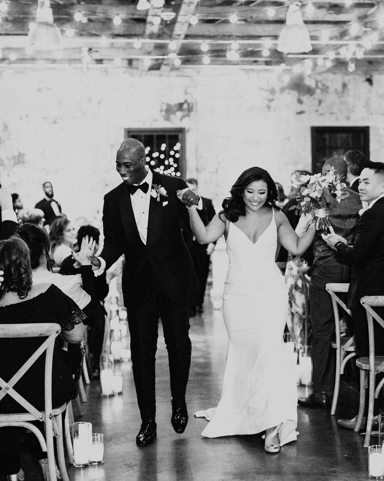 jessica ali wedding recessional bride and groom
