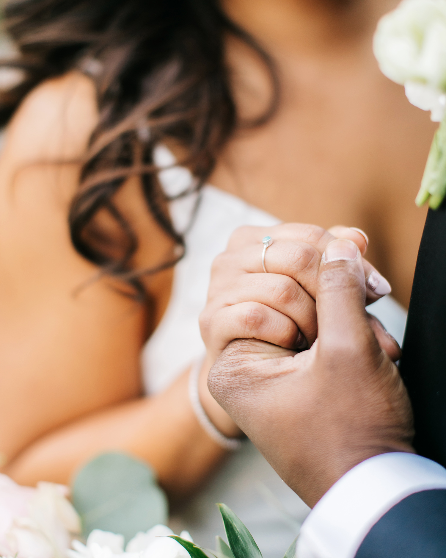 jessica ali wedding ring holding hands