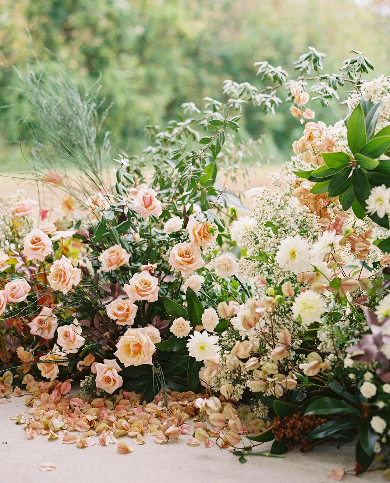 wedding altar floral organic natural sculpture