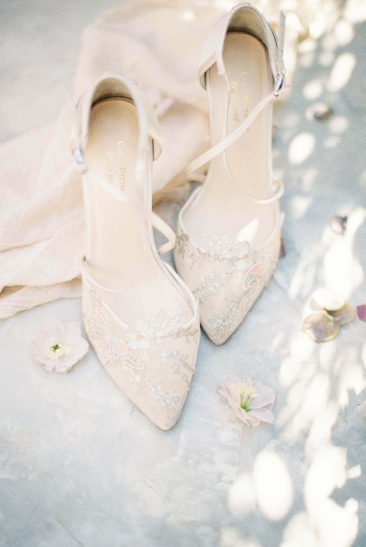 sally bridal shower ornate butterfly shoes