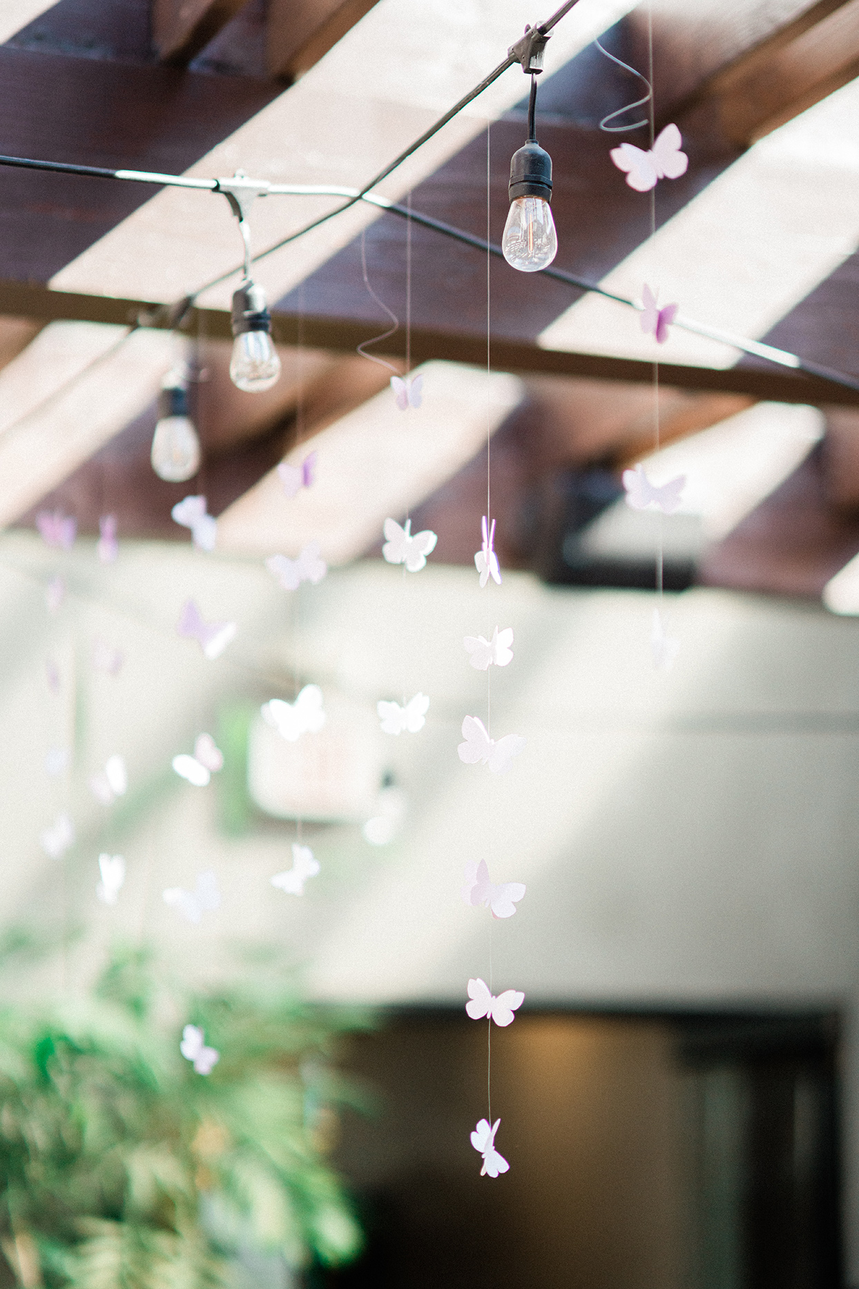 sally bridal shower decorative butterflies hanging from ceiling