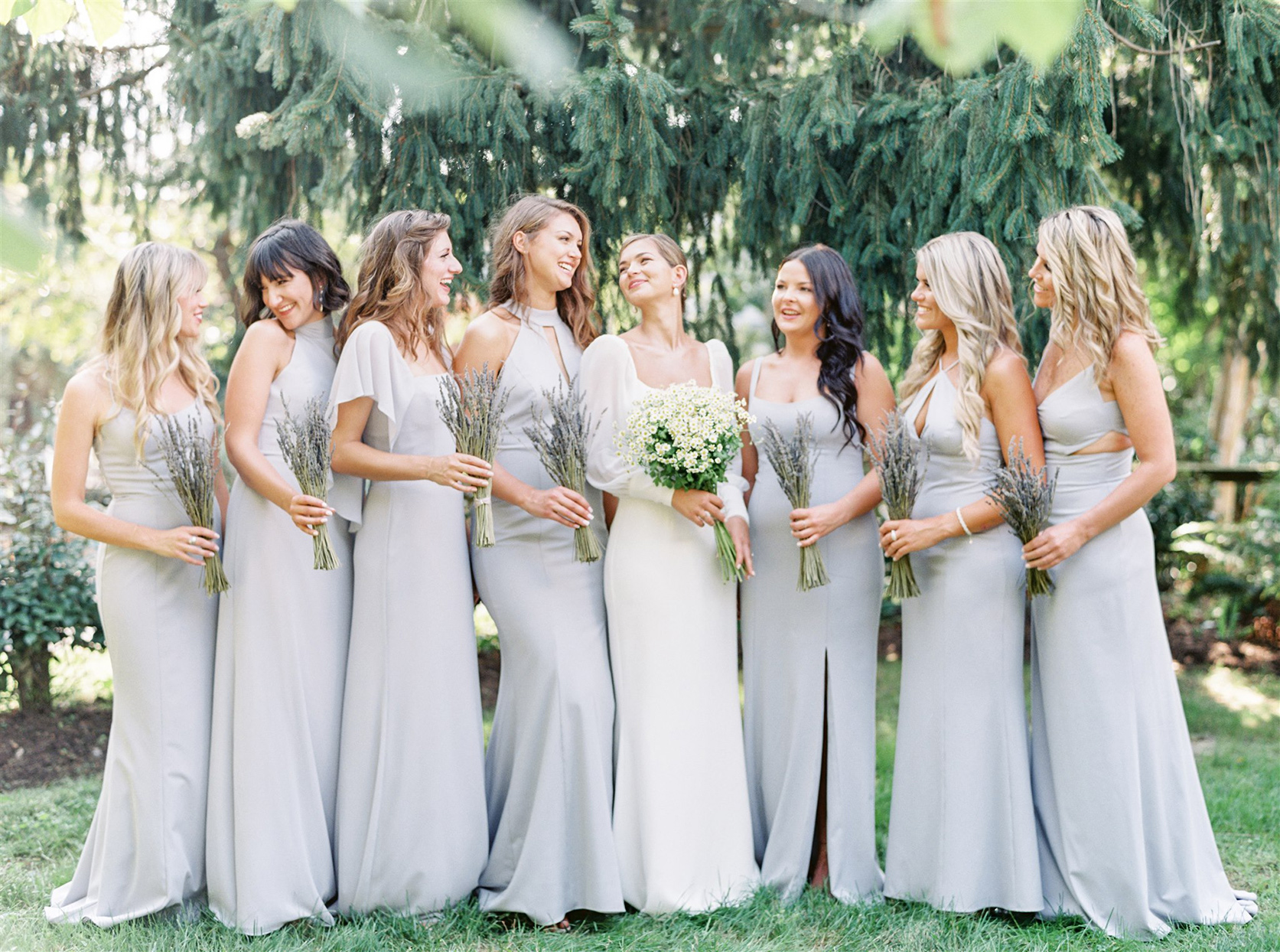 samantha cody wedding bridesmaids in pastel with bride