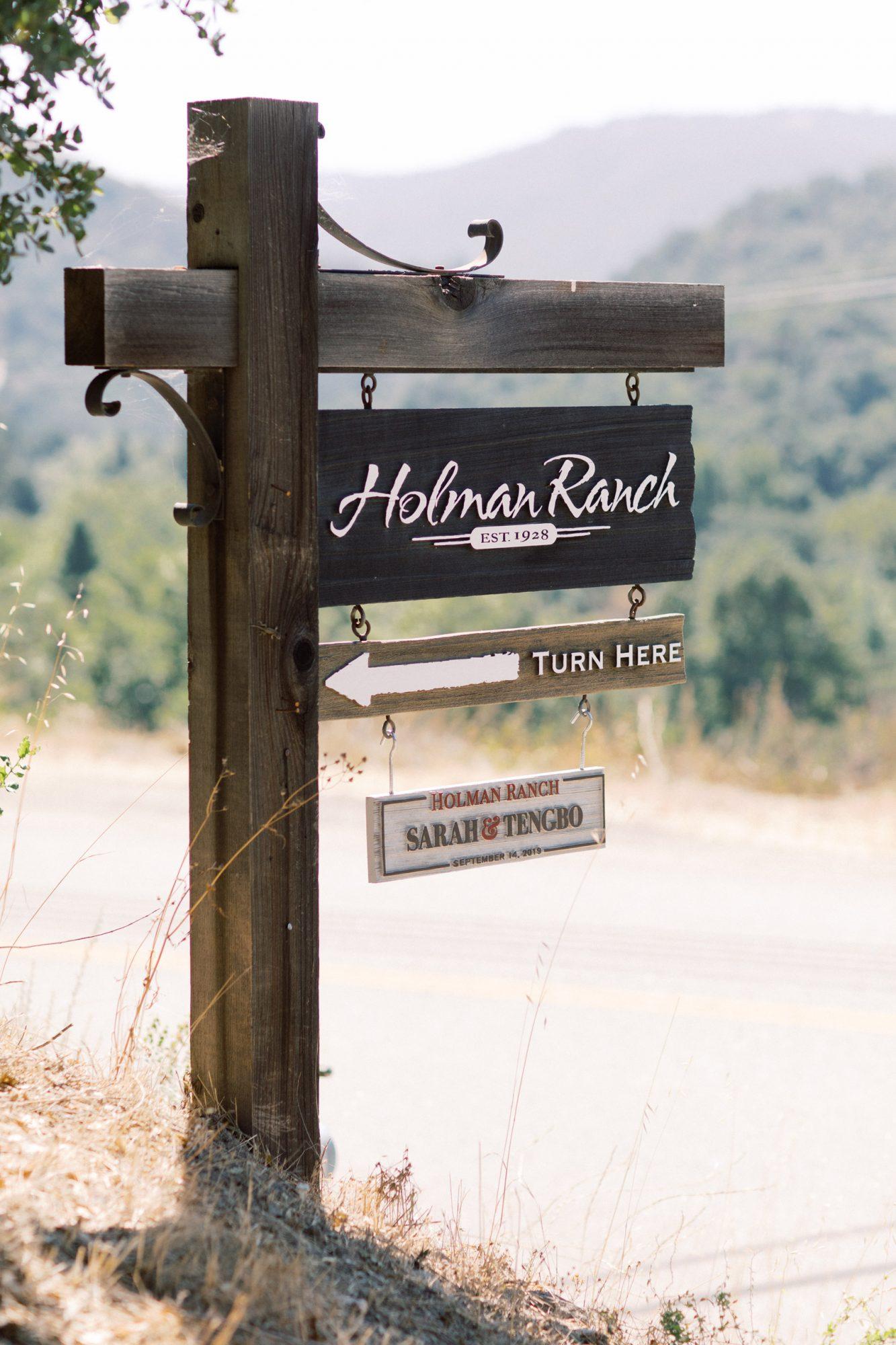 wooden Holman Ranch sign