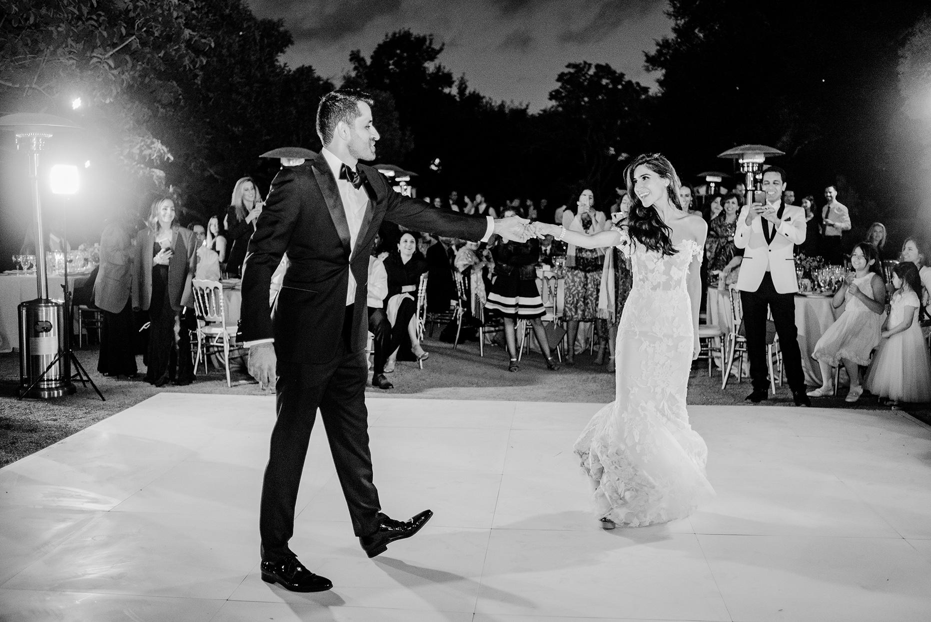 yalda anusha wedding couple dancing at reception