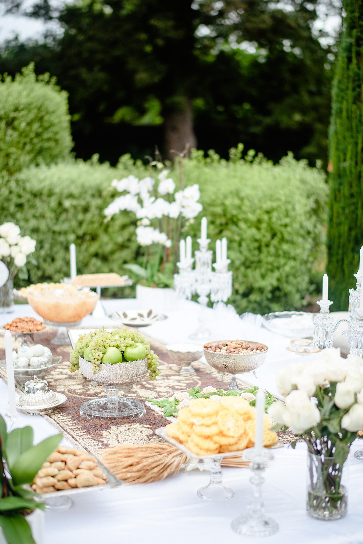 yalda anusha wedding sofreh