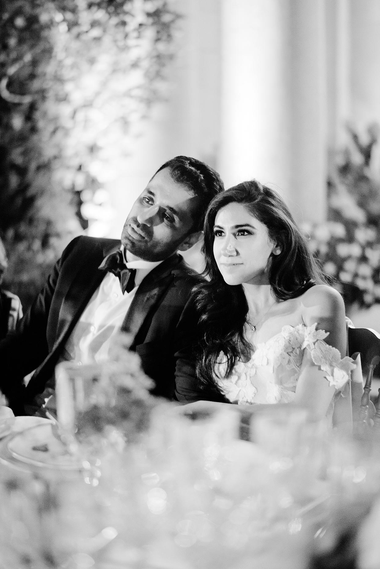 yalda anusha wedding couple listening to toasts