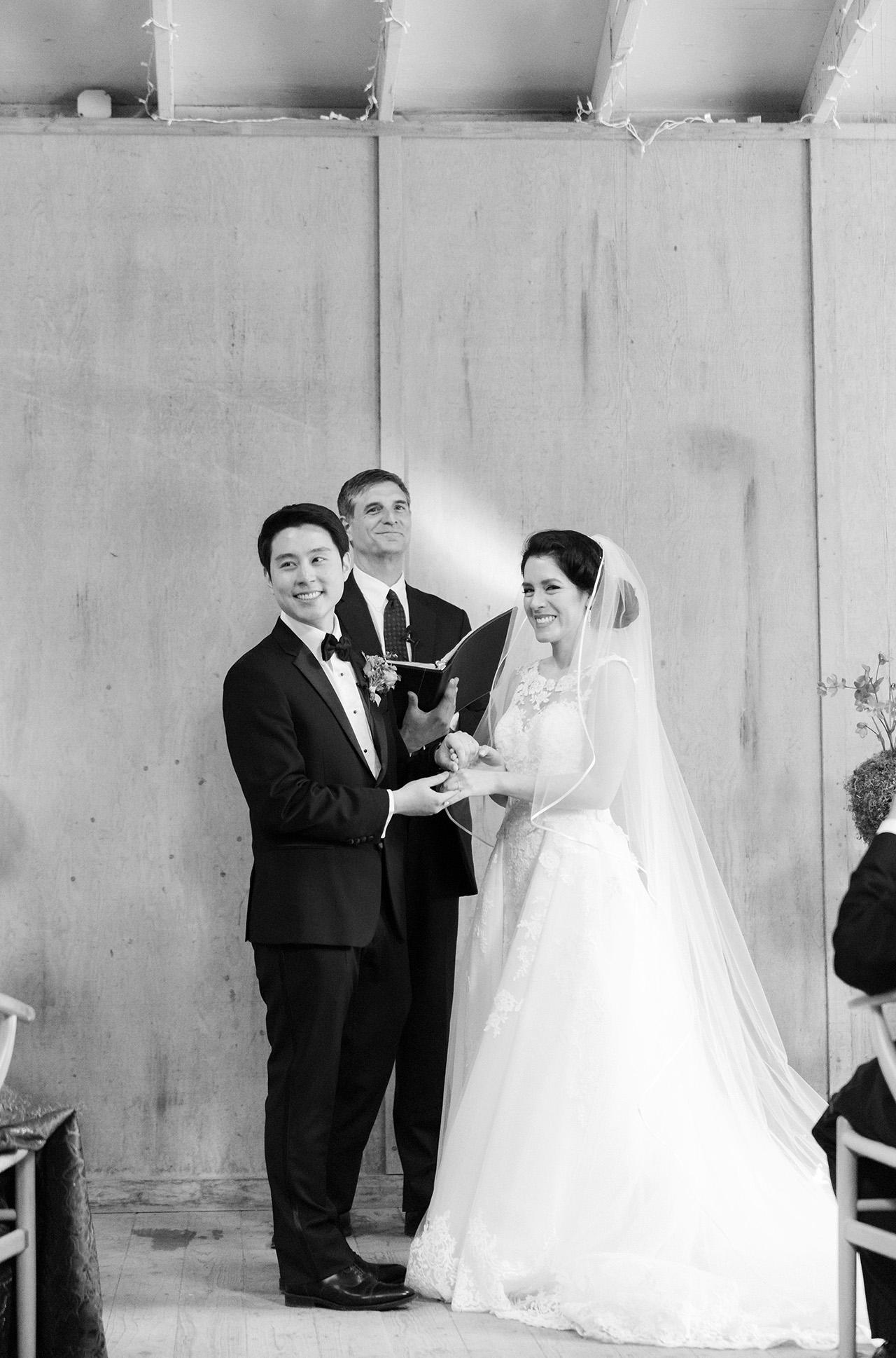 stephanie calvin wedding ceremony couple