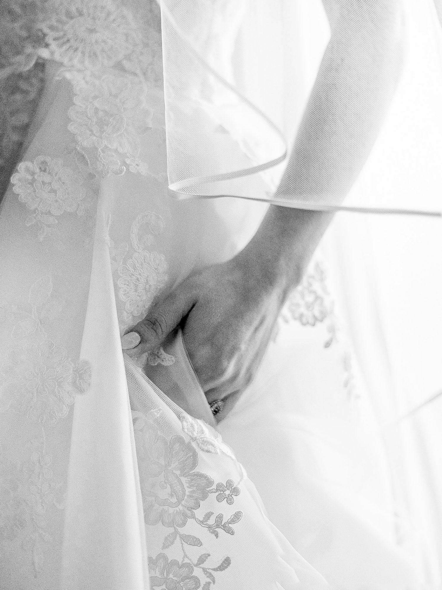 stephanie calvin wedding dress close up details