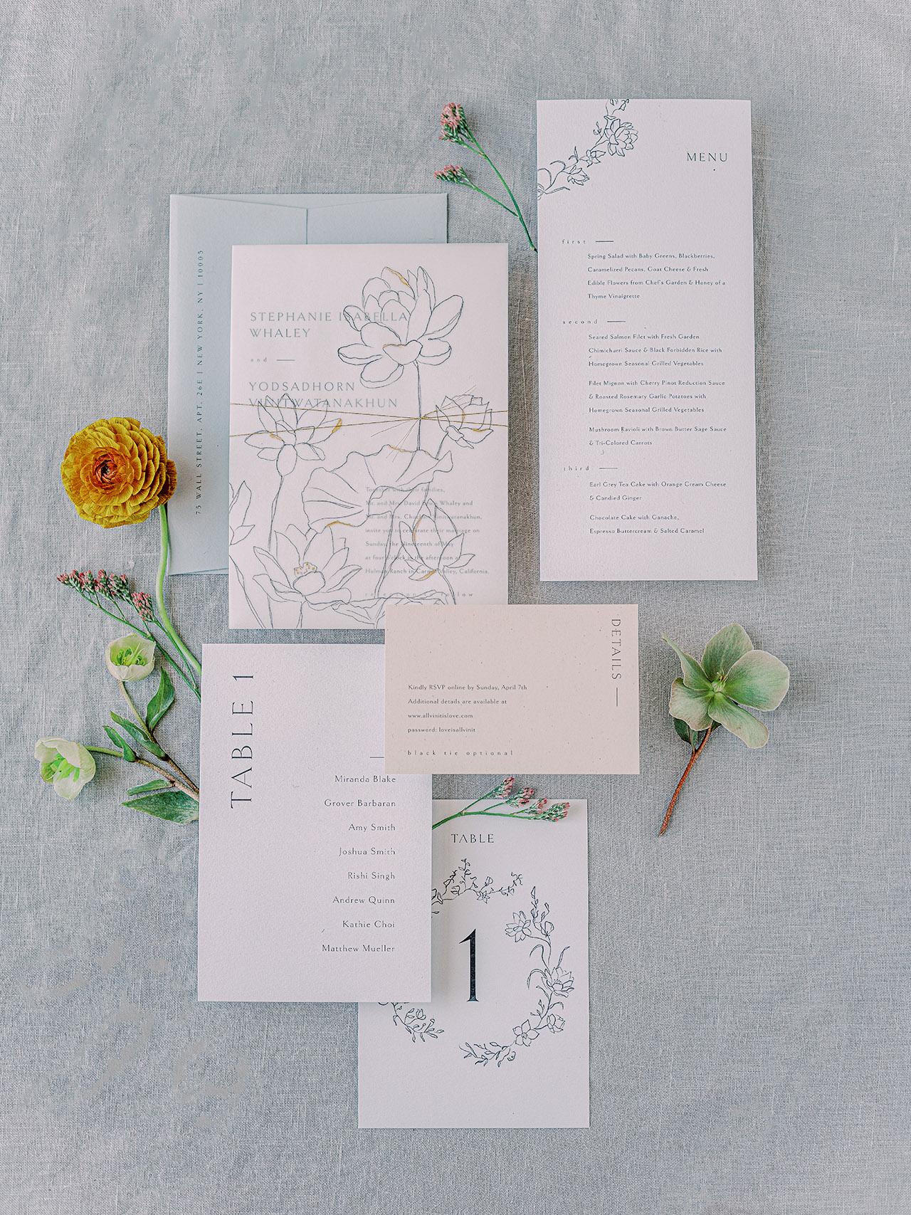 stephanie calvin wedding invites stationery