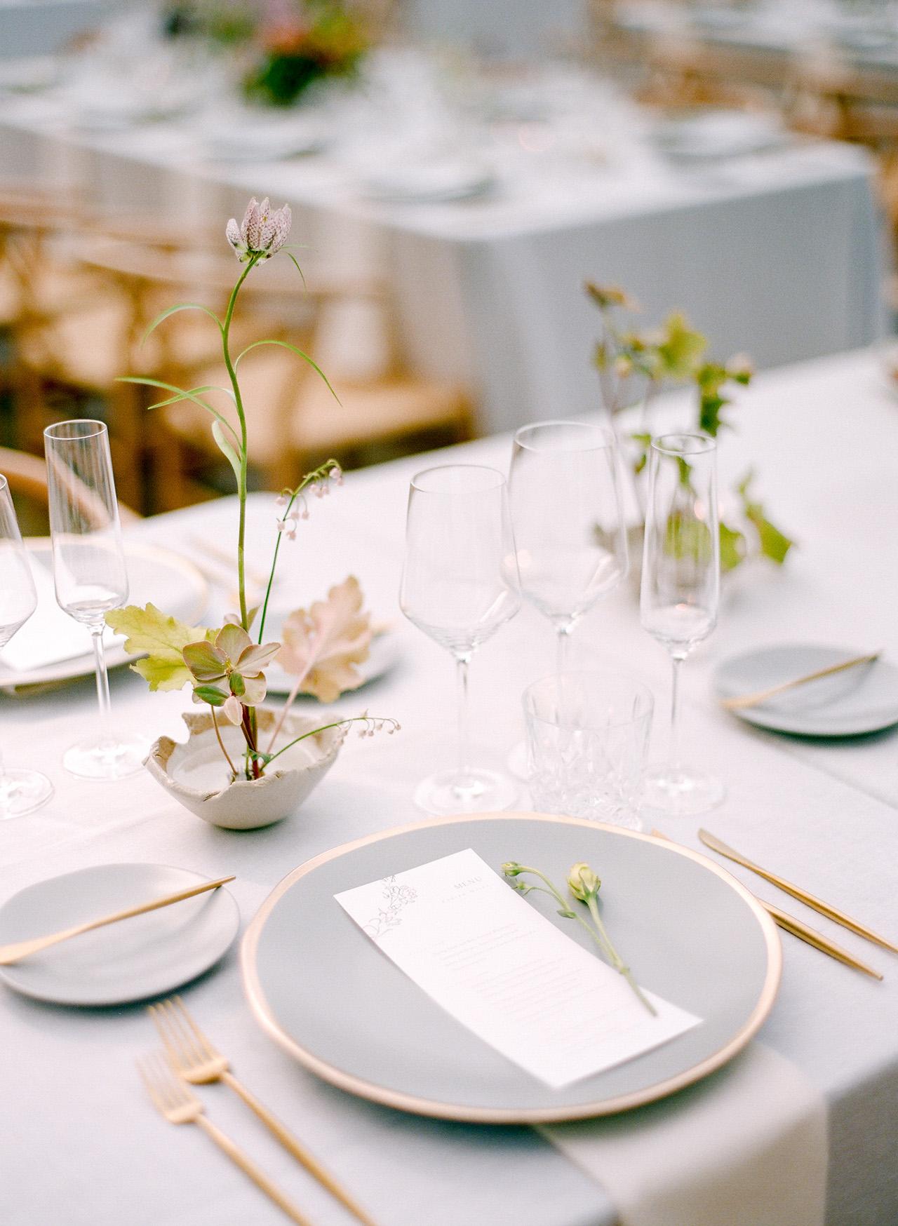 stephanie calvin wedding place settings