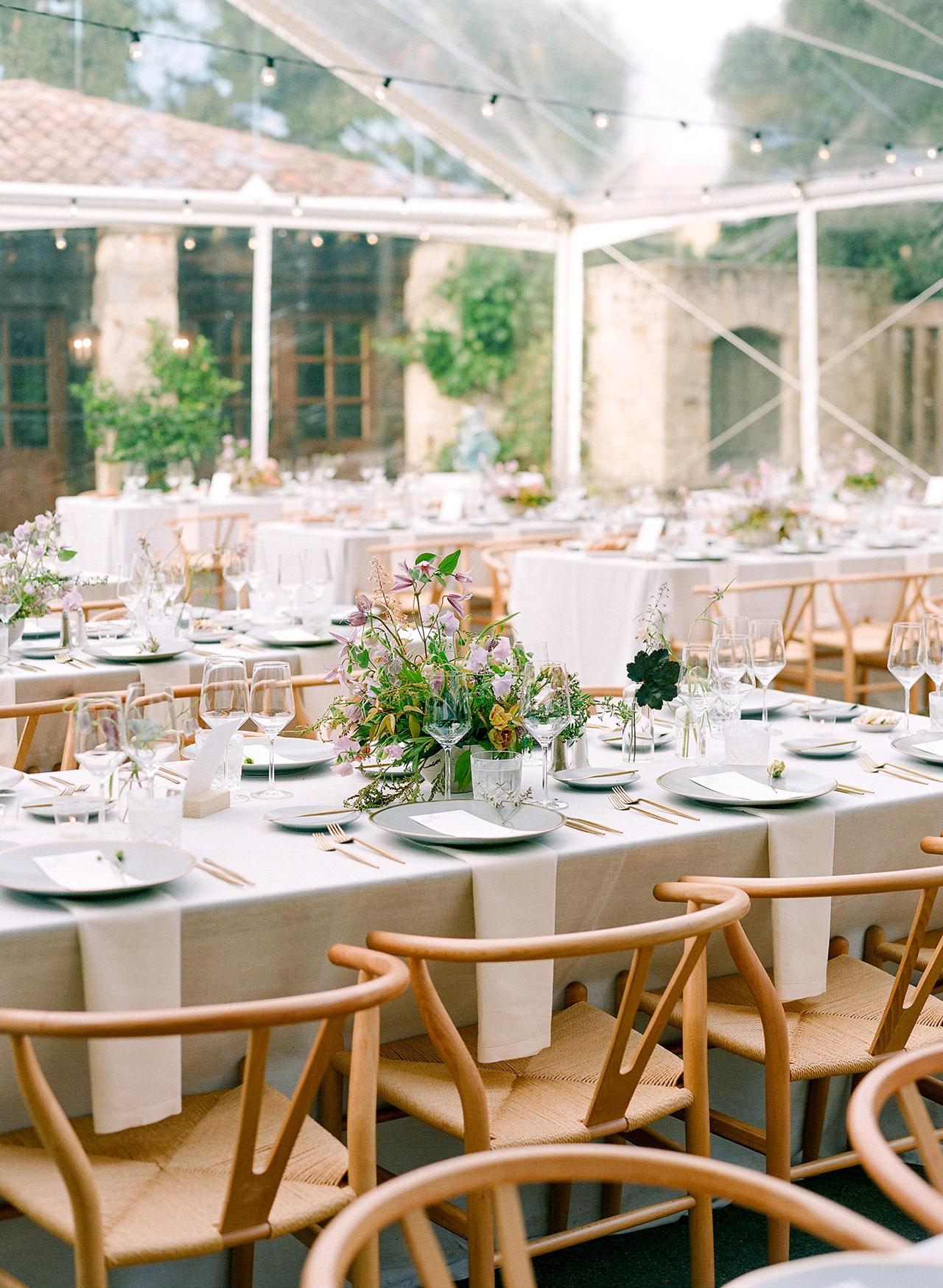 stephanie calvin wedding tent reception