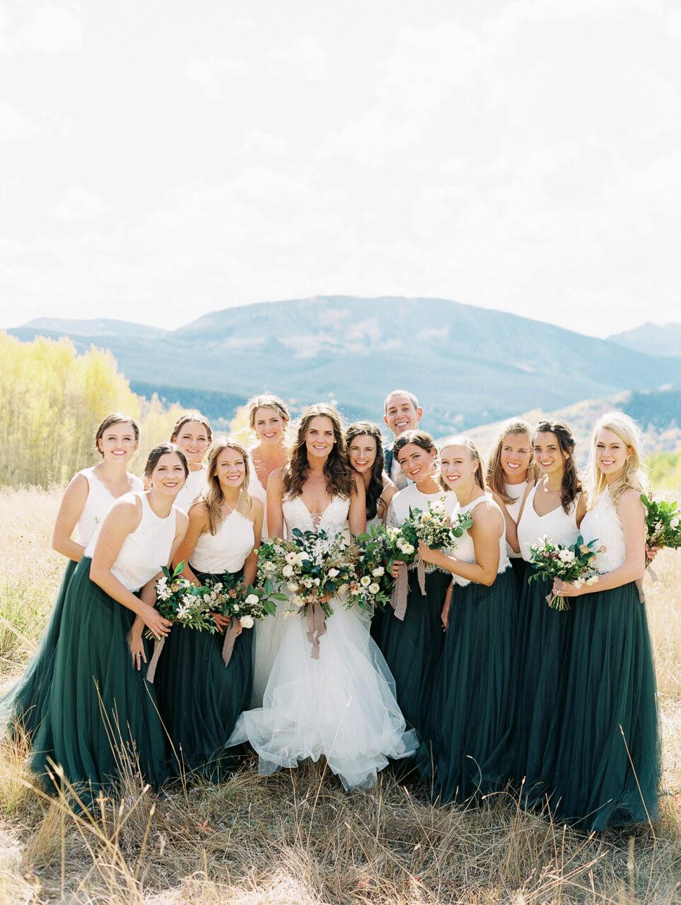 molly frank wedding bridesmaids with bride