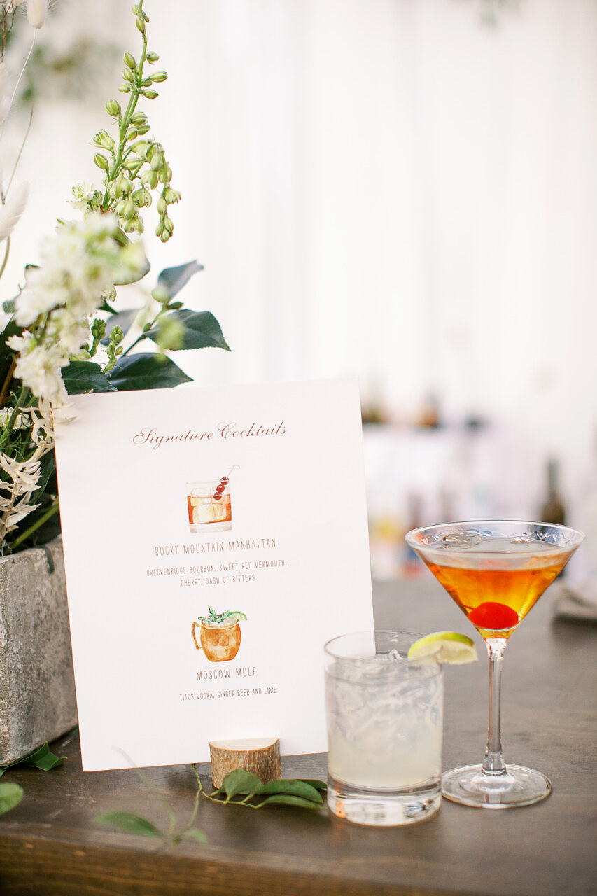 molly frank wedding cocktails