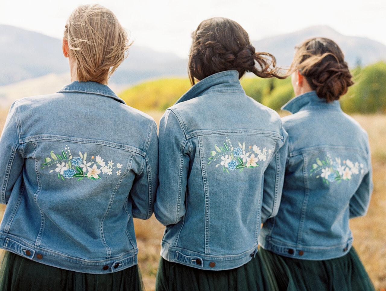 molly frank wedding jean jackets bridesmaids
