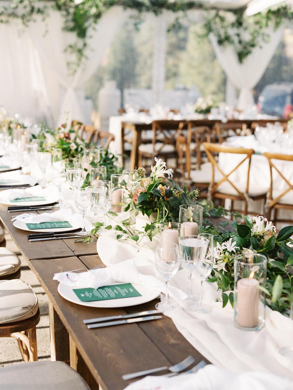 molly frank wedding reception tables