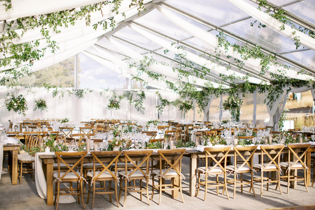 molly frank wedding reception tent