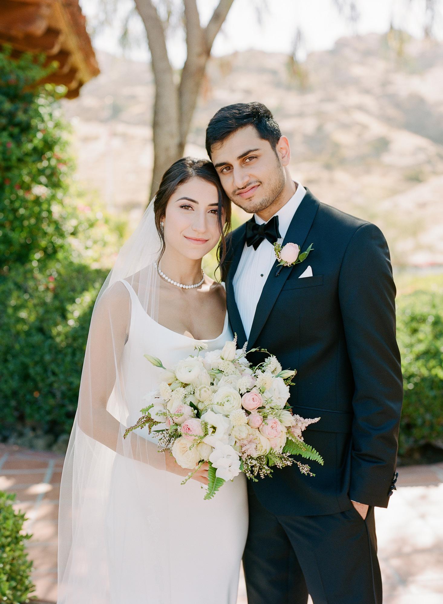 wedding couple bride holding bouquet