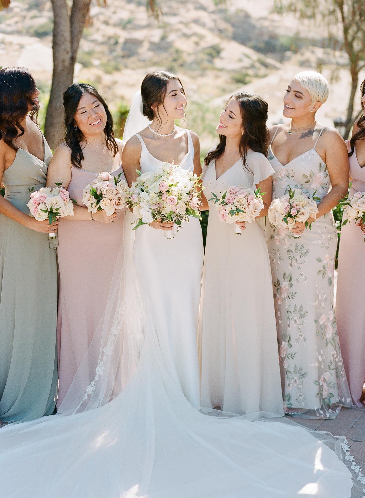 Sasha with bridesmaids