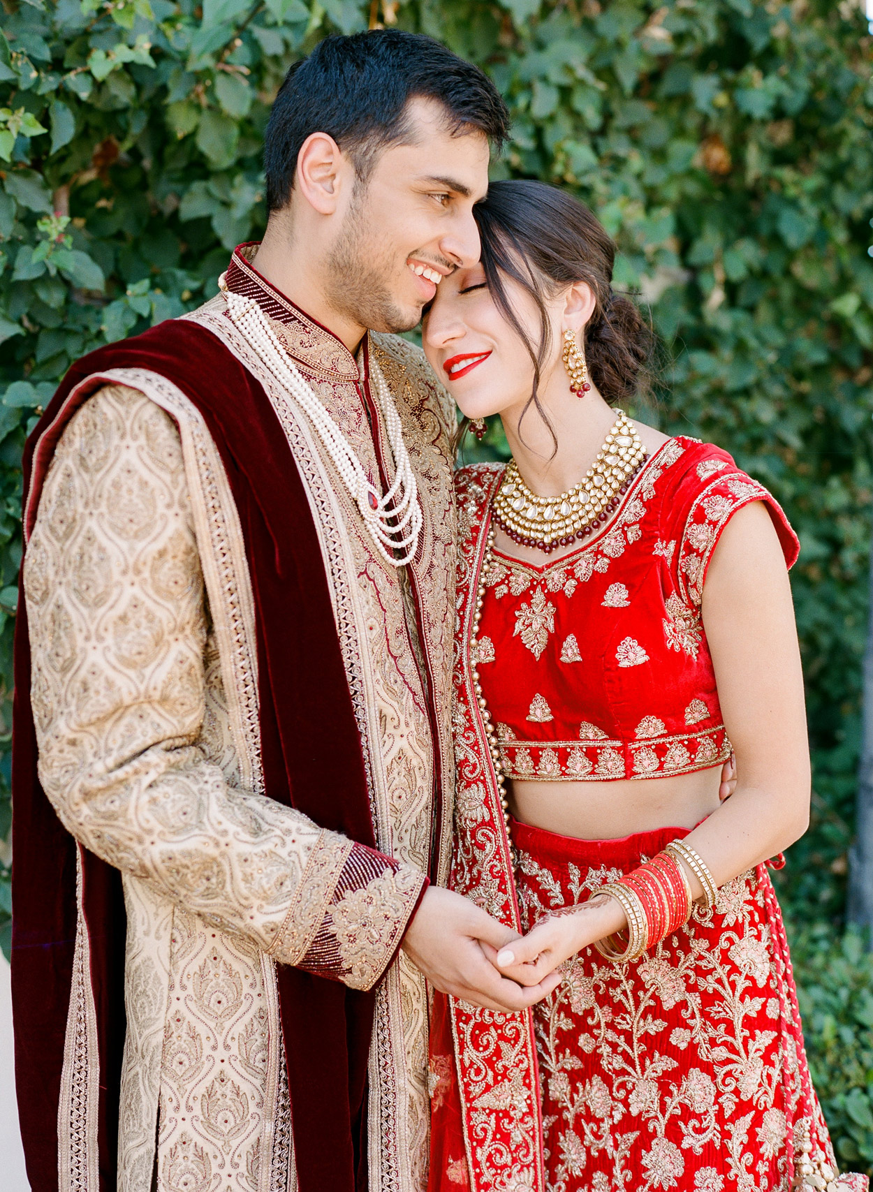 wedding couple during Indian ceremony