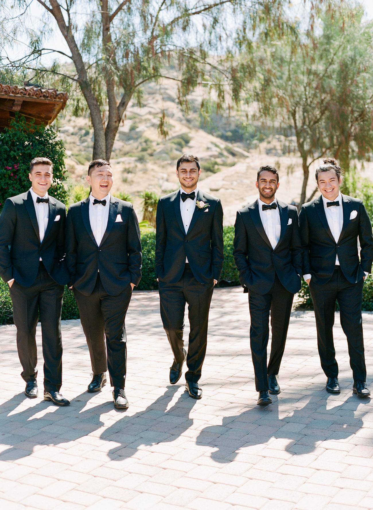 Aneesh with groomsmen