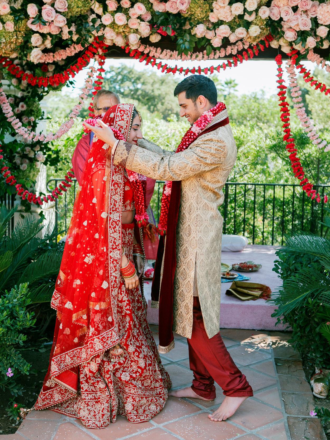 Sasha & Aneesh during Indian ceremony