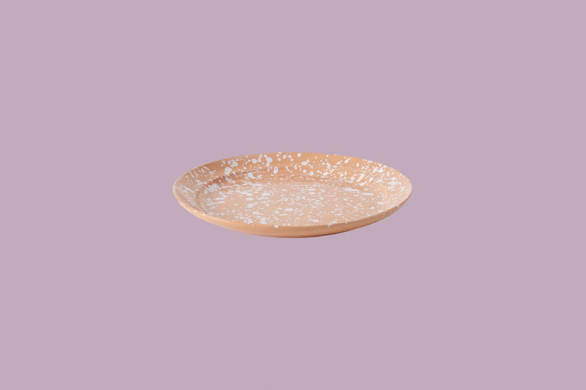 March San Francisco White on Terracotta Splatterware Platter