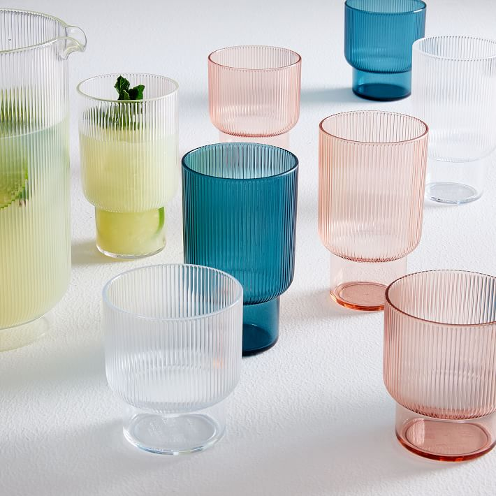 West Elm Fluted Acrylic Glassware