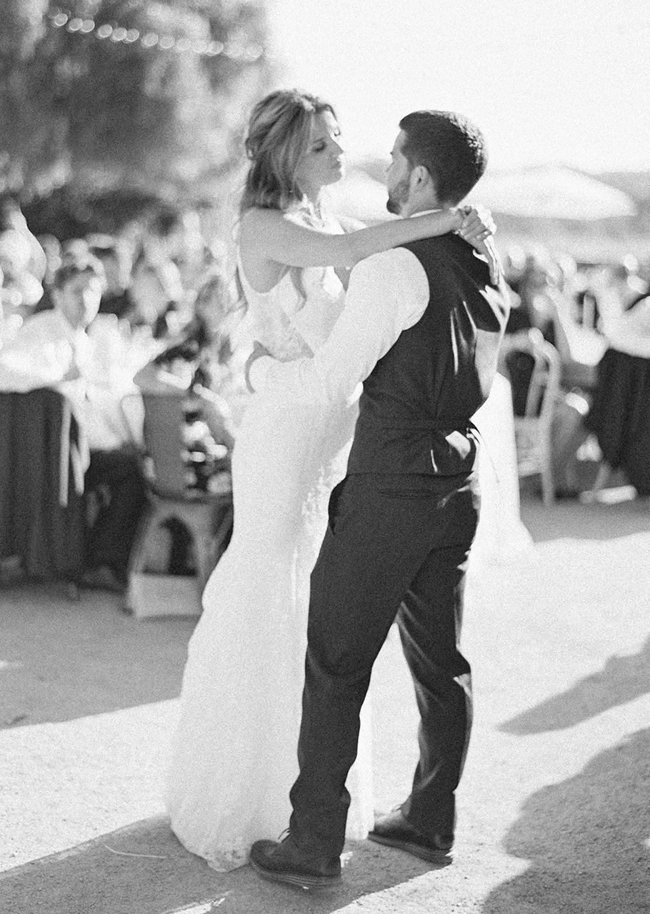bride groom wedding reception dance outdoors