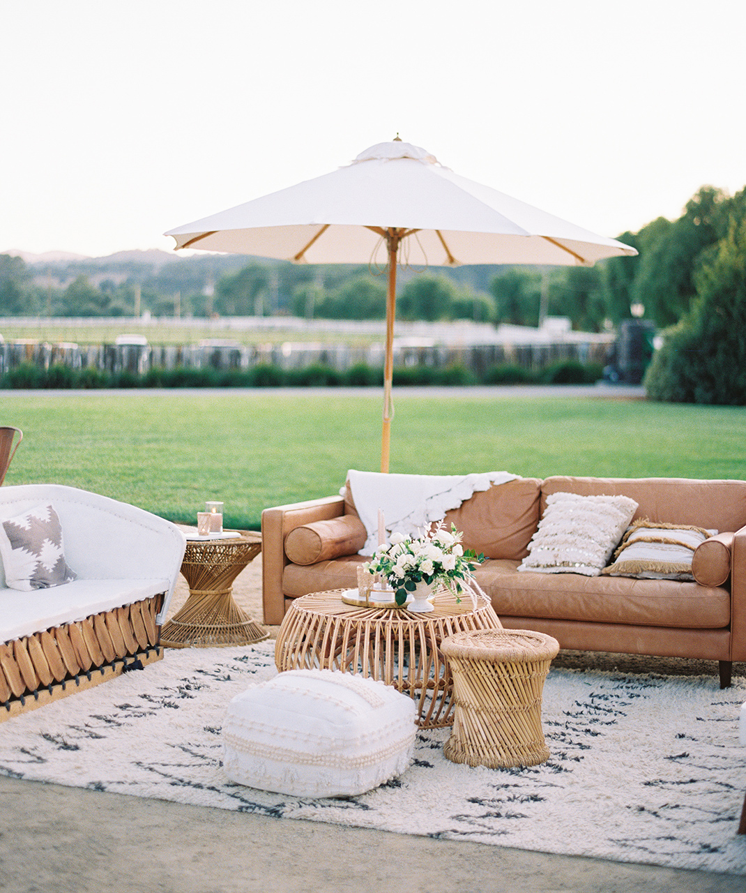 out door lounge space bohemian atmosphere