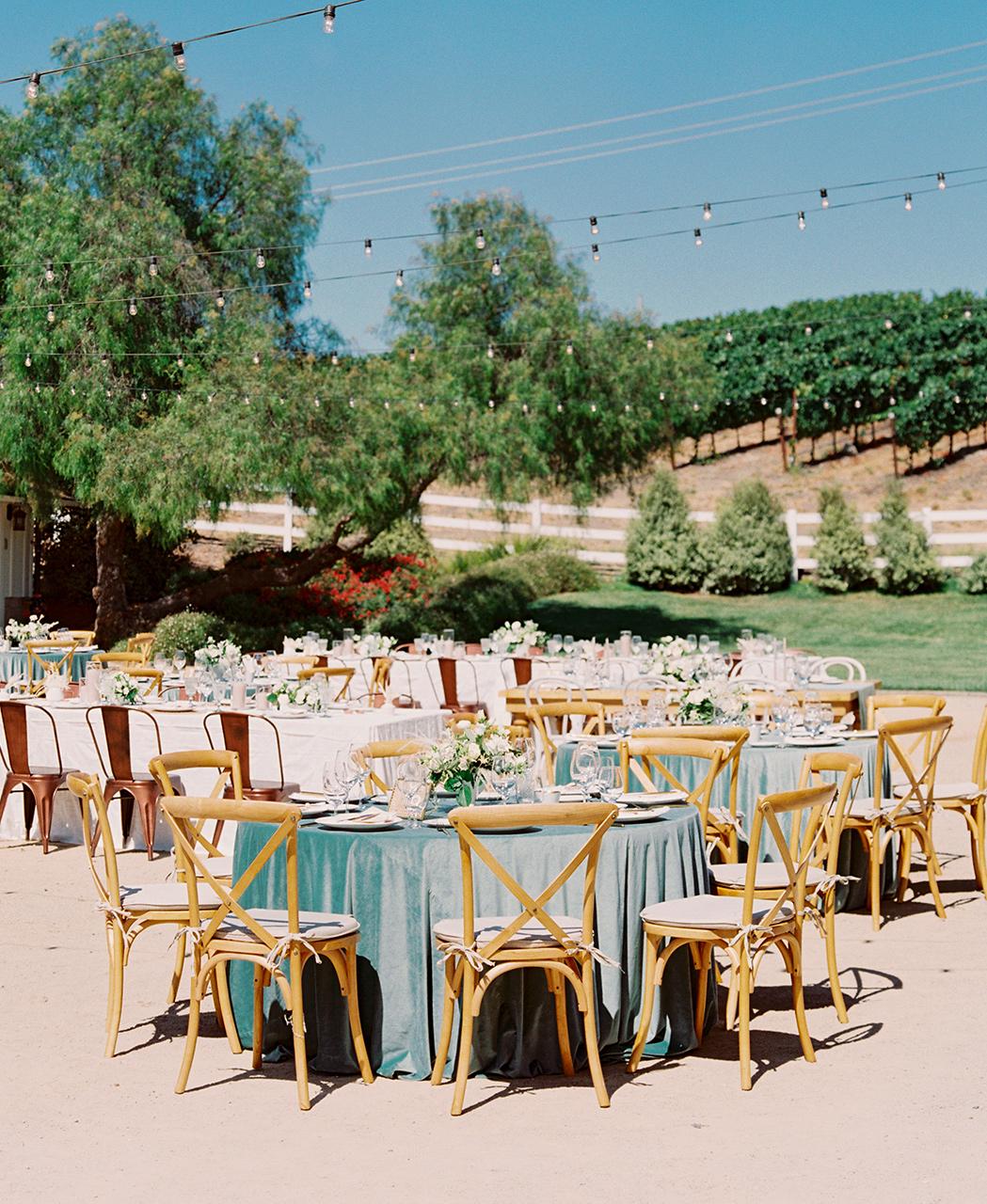 outdoor wedding reception farmhouse table variety