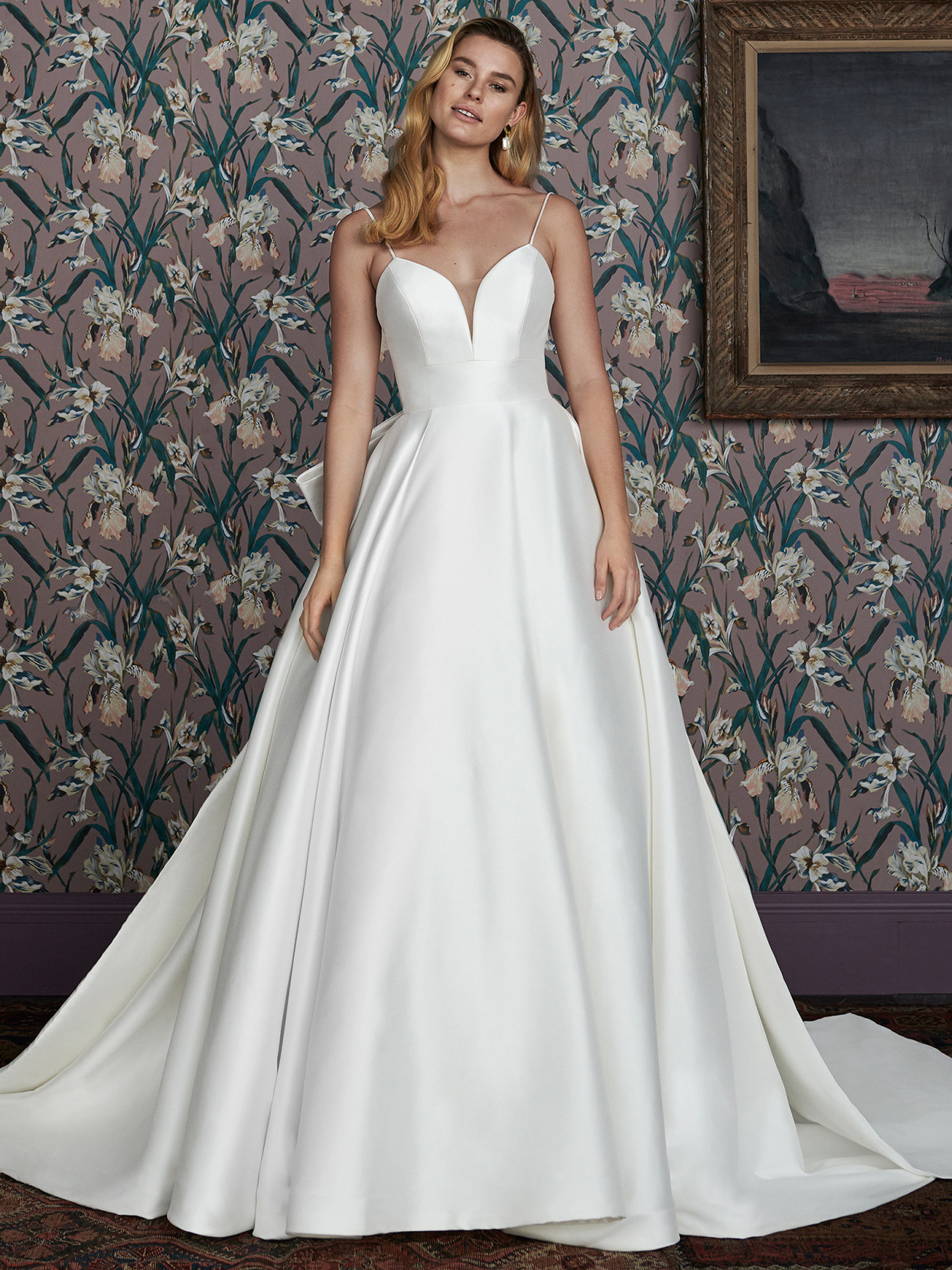 justin alexander deep v-neck a-line wedding dress spring 2021