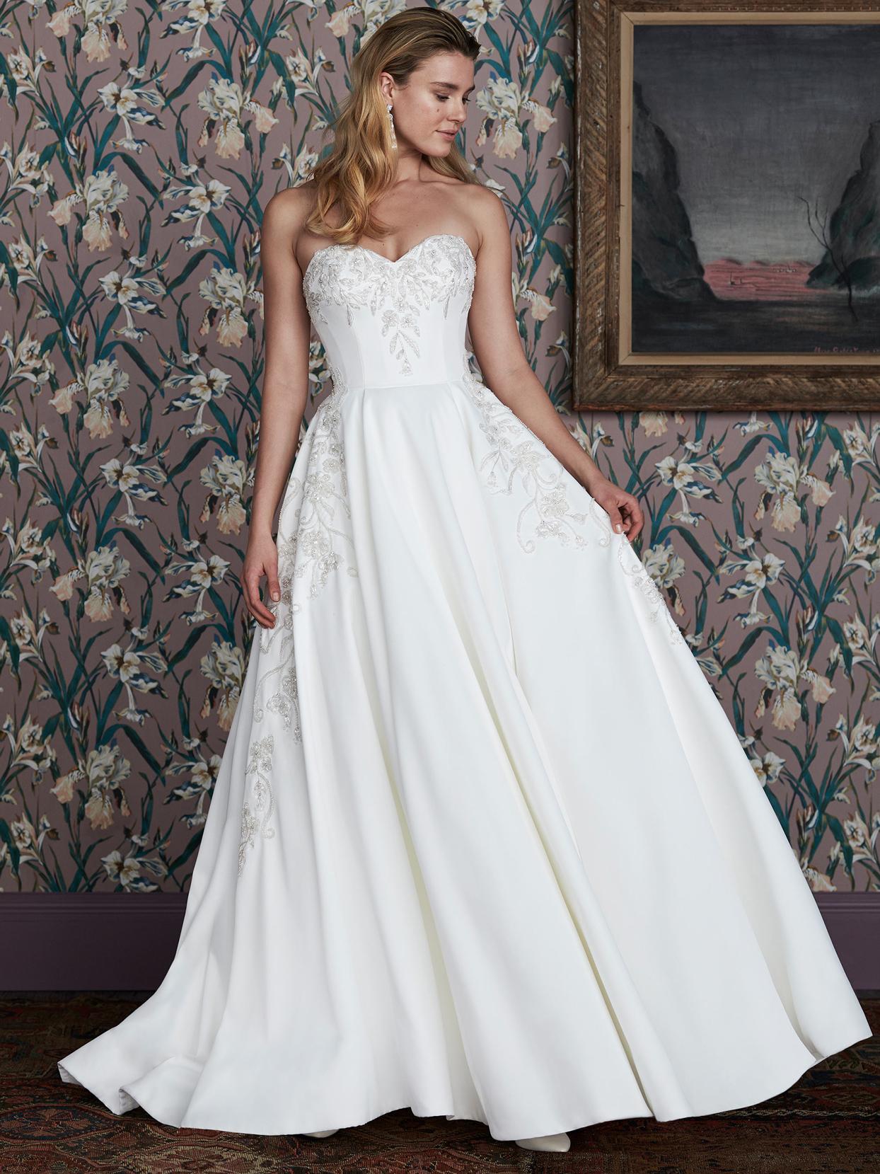 justin alexander sweetheart neckline a-line wedding dress spring 2021