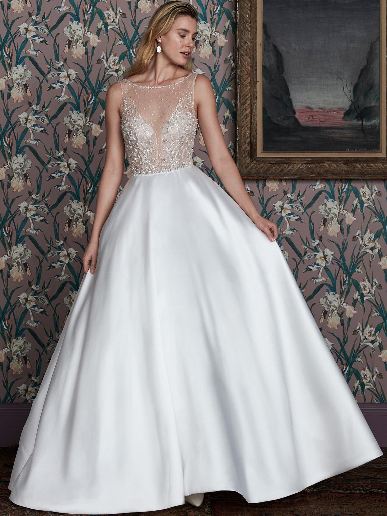 justin alexander illusion high neck sleeveless wedding dress spring 2021