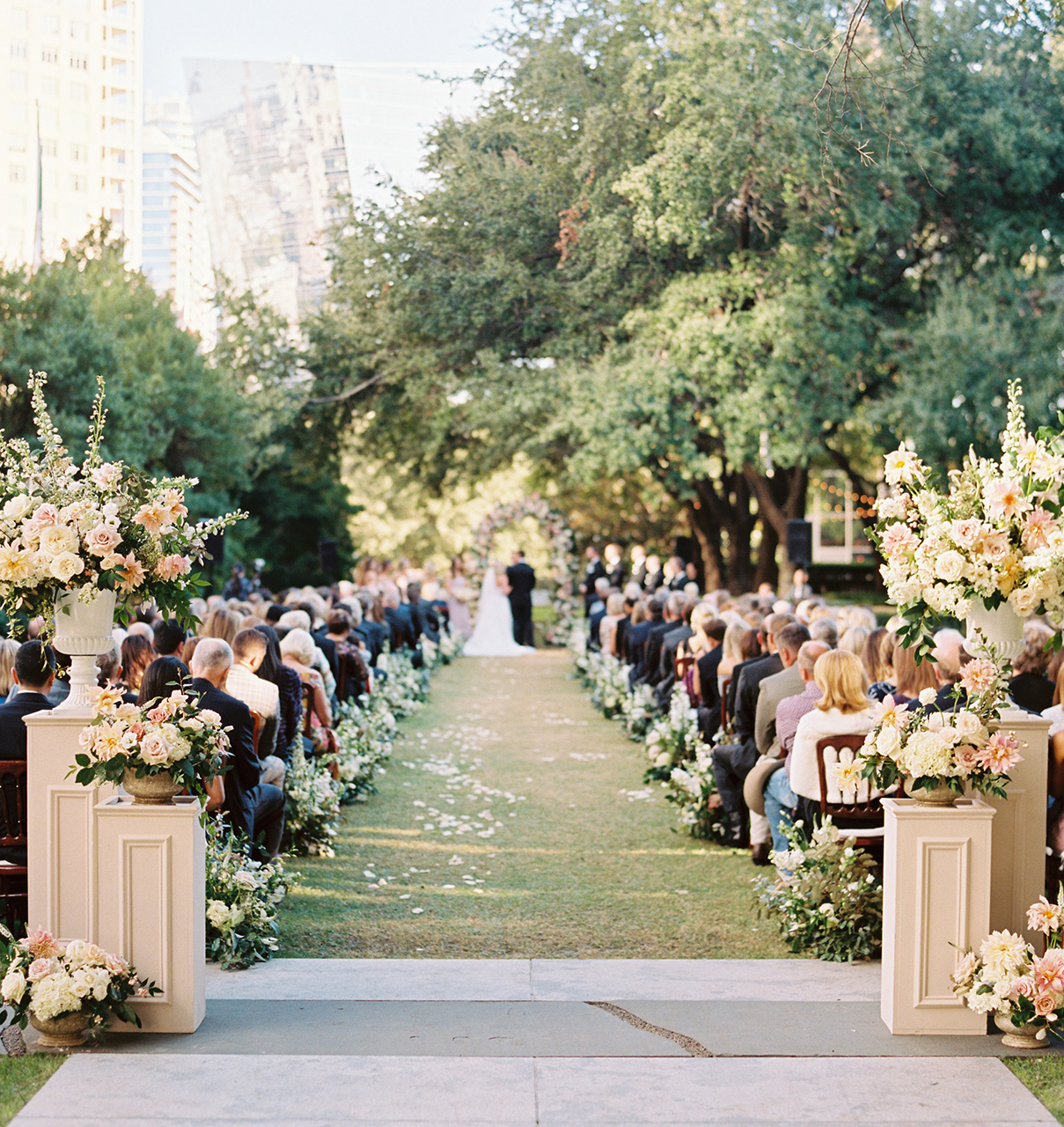 wedding ceremony space outdoor aisle