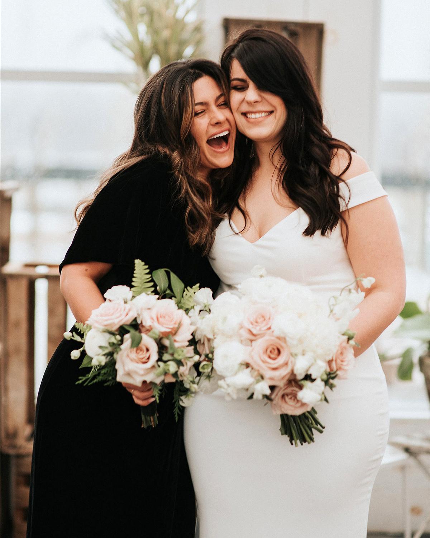 stephanie taurean wedding bridesmaid and bride